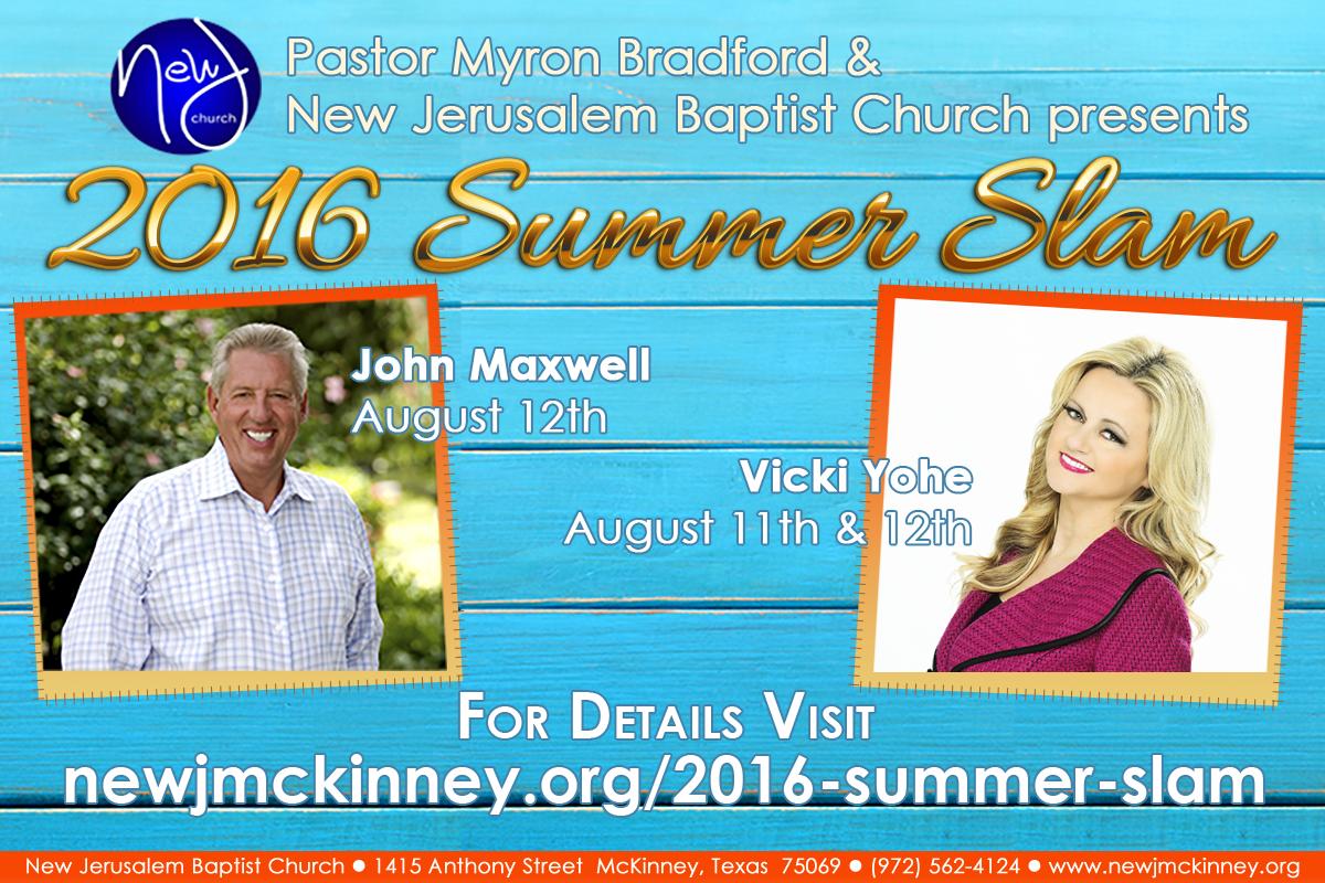 Speakers for 2016 Summer Slam presented by New Jerusalem